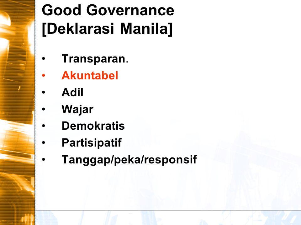 Good Governance [Deklarasi Manila]
